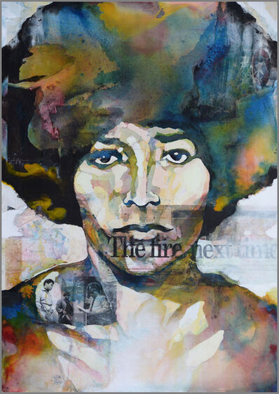 Bruce Clarke, 'The Fire Next Time (Angela Davis)', 2017