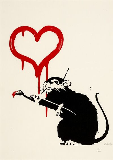 Banksy, 'Love Rat Signed', 2004