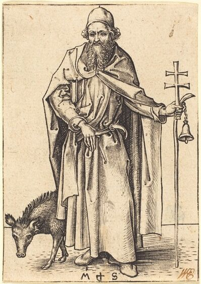 Martin Schongauer, 'Saint Anthony', ca. 1480