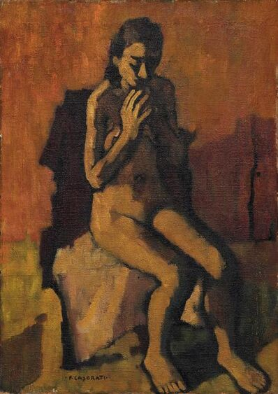 Felice Casorati, 'Female nude', executed in the '20-'30