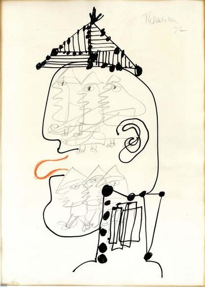 Franciszka Themerson, 'Head of Ubu, Copenhagen', 1972
