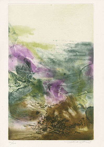 Zao Wou-Ki 趙無極, 'Untitled (Plate 7 from The Pisan Cantos)', 1972