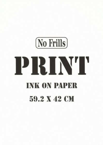 Michael Landy, 'No Frills. Print.', 2007