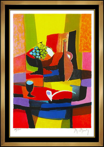 Marcel Mouly, 'Marcel Mouly Original Color Lithograph Hand Signed Cubism Still Life Modern Art', 20th Century