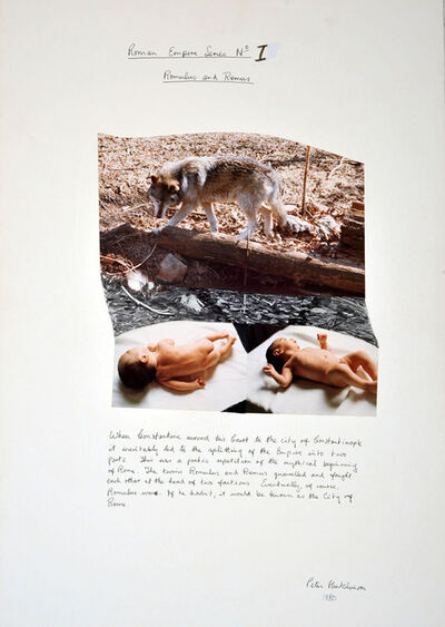 Peter Arthur Hutchinson, 'Roman Empire Series No.I: Romulus and Remus', 1980