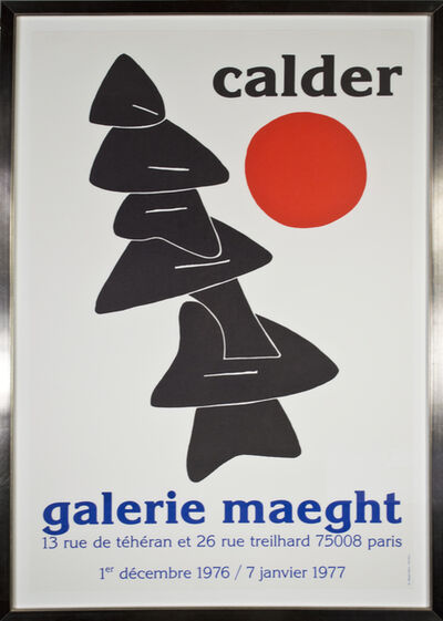 Alexander Calder, 'Stabile with Red Sun, Galerie Meaght', 1976-1977