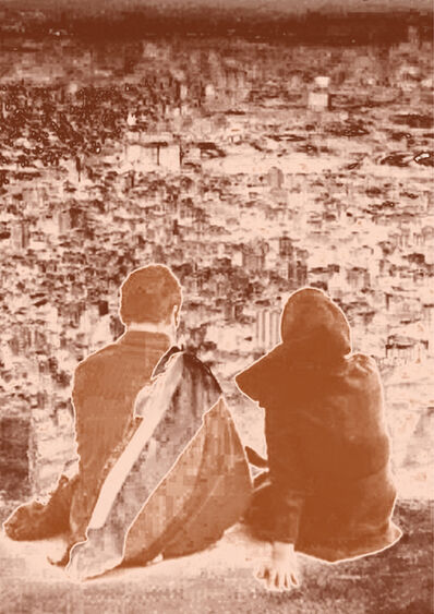 Firouz Farmanfarmaian, 'Tehran Lovers Part 3', 2015