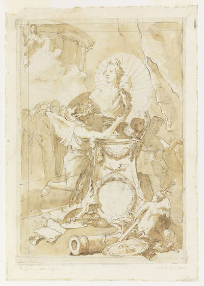 Giambattista Tiepolo, 'Design for Dedication Page to Charles III of Spain and the Two Sicilies', ca. 1762