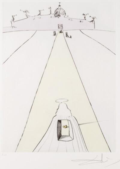 Salvador Dalí, 'Dieu, Le Temps, L'Espace et le Pape from Apres 50 Ans du Surrealisme'