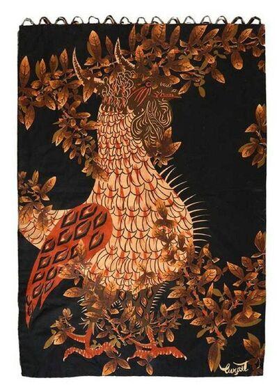 Jean Lurçat, 'Vintage French Modernist Jean Lurcat Linen Silkscreen Tapestry Wall Hanging', Mid-20th Century