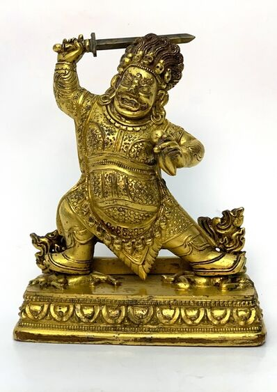 Bronze Sculpture, 'A Gilt bronze figure of Begtse, Zanabazar School, 17-18th century, 10,5 cm. '