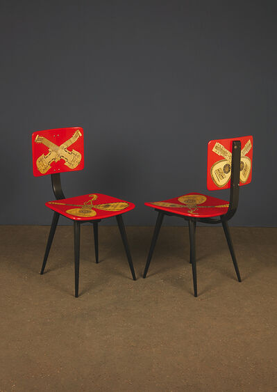Piero Fornasetti, 'Instruments de Musique modèle Boomerang, Chair', 1956
