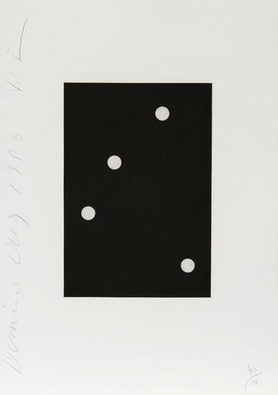 Donald Sultan, 'Dominoes Portfolio - 6', 1990