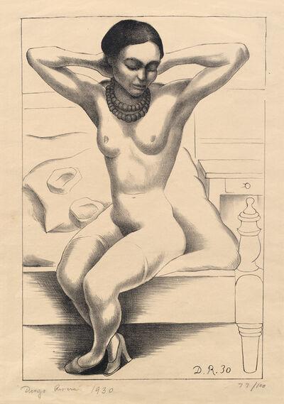 Diego Rivera, 'Nude with Beads, Frida Kahlo (Desnudo sentado con brazos levantados) (G. 893)', 1930