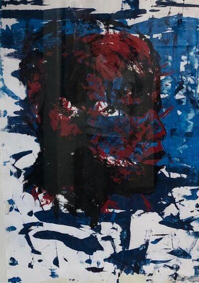 Nelson Makamo, 'Red & Blue Head', ca. 2015