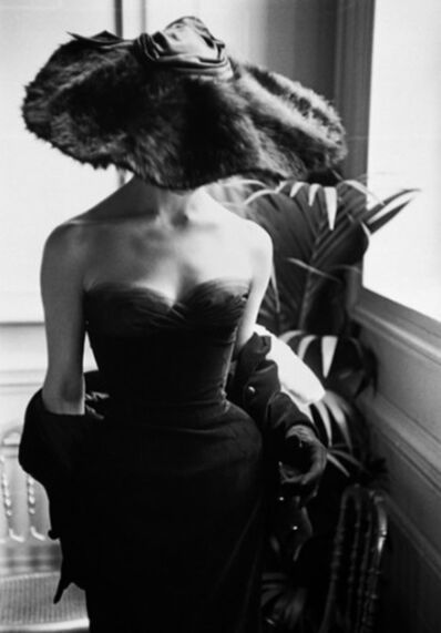 Mark Shaw, 'Dior Gown with Fur Hat, Paris', 1954