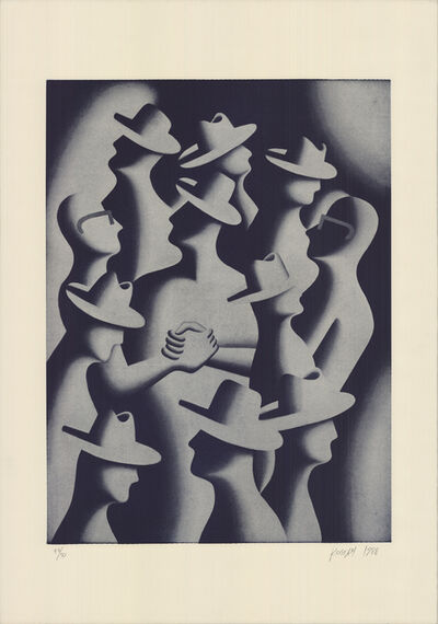 Mark Kostabi, 'Merger And Acquisitions, 1988', 1989