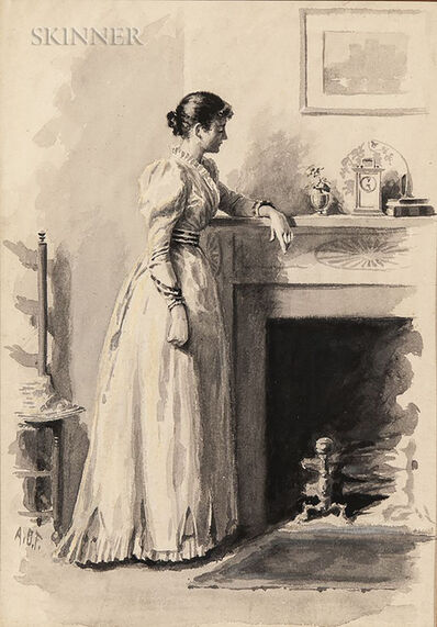 Arthur Burdett Frost, 'Waiting by the Hearth', 1891