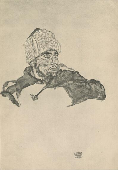 """Egon Schiele, '""""Russian Soldier"""", Zeichnungen (plate VII)', 1917"""