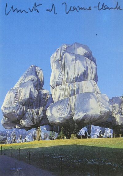 Christo, 'Wrapped Trees (Hand Signed), from the estate of Jacob and Aviva Bal Teshuva', 1998