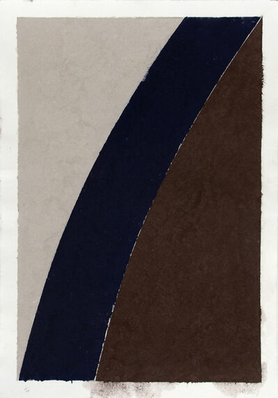 Ellsworth Kelly, 'Colored Paper Image XII (Blue Curve and Gray)', 1976