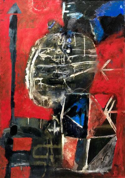 Antoni Clavé, 'Guerrier au fond rouge', 1961