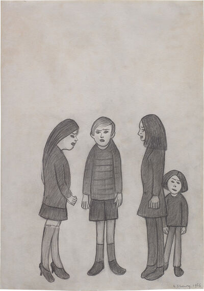 L.S. Lowry, 'Four Young People', 1966