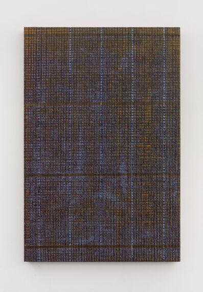 Chi Qun 迟群, '五条线 - 金紫 Five Lines - Gold and Purple', 2018