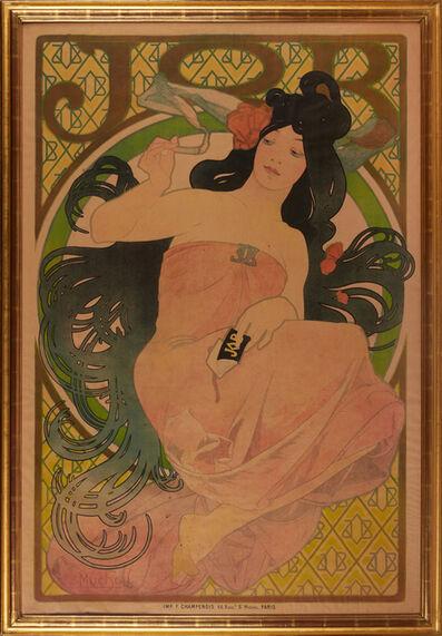 Alphonse Mucha, 'Large advertisement for cigarette paper (framed)', ca. 1898
