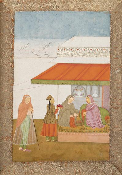 India, Popular Mughal, 'Ladies in a Zenana', ca. 1800