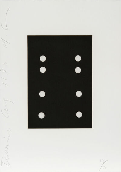 Donald Sultan, 'Dominoes Portfolio - 15', 1990