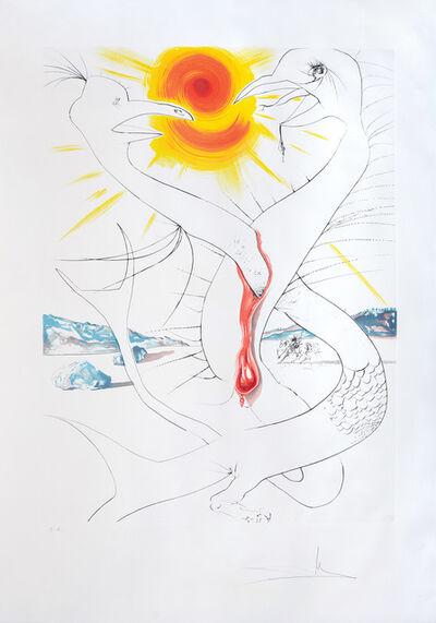 Salvador Dalí, 'La Caducée de Mars alimenté par la boule de feu de Jupiter (The Caduceus of Mars Nourished by Jupiter's Ball of Fire)', 1974