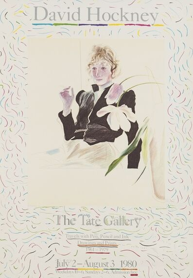 After David Hockney, 'A poster for David Hockney: Travels with Pen, Pencil, and Ink (Baggott 48)', 1980