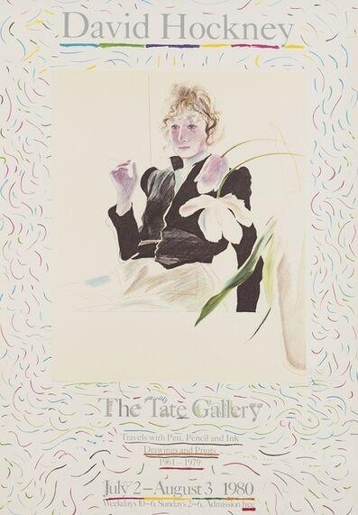 After David Hockney, 'A poster for David Hockney: Travels with Pen, Pencil, and Ink (Baggott 48)', 1980