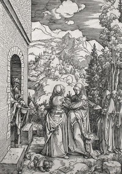 Albrecht Dürer, 'Die Heimsuchung [proof] (The Visitation)', ca. 1503