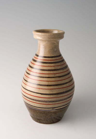 Shinsaku Hamada, 'Vase, akae decoration'