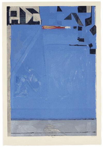 Richard Diebenkorn, 'Blue with Red', 1987