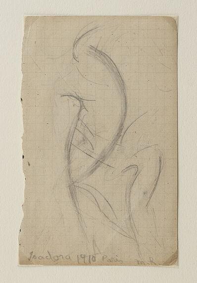 Morgan Russell, 'Isadora Duncan dansant (recto); Etude de mouvement (verso)'