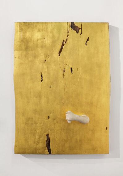 Gian Maria Tosatti, '2_Estate - evoluzione (oro e braccio) / 2_Summer - evolution (gold and harm)', 2017