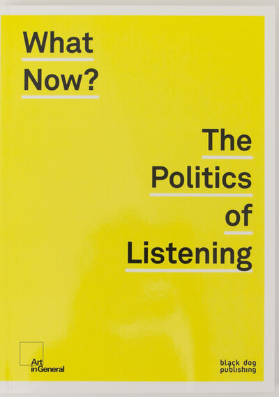 Lawrence Abu Hamdan, 'What Now? The Politics of Listening', 2016