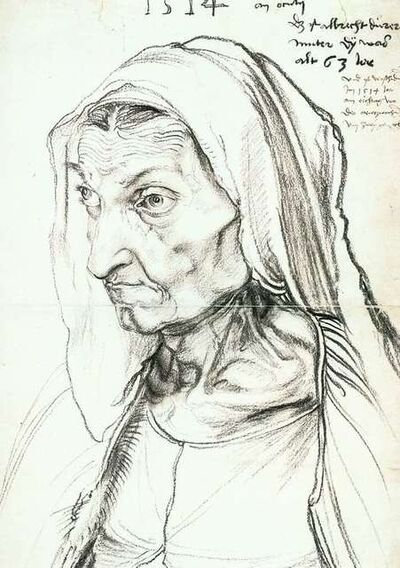 Albrecht Dürer, 'Portrait of the Artist's Mother at the Age of 63', 1514