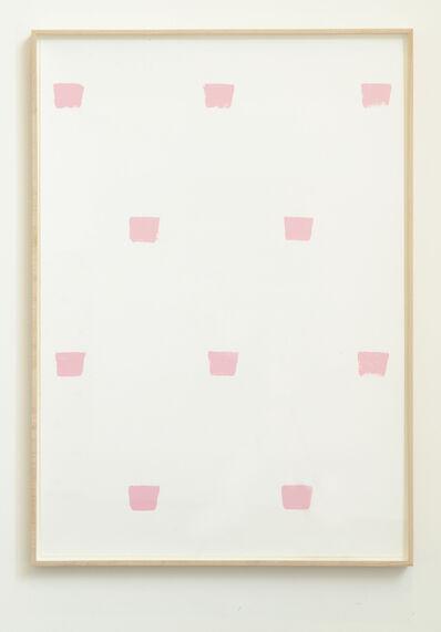 Niele Toroni, ' Empreintes de pinceau n.50 à intervalles de 30 cm', 1996