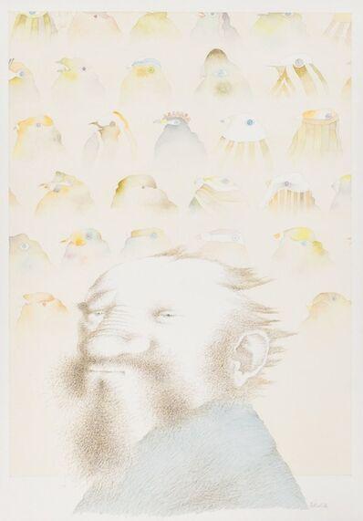 Tullio Pericoli, 'R. e gli uccelli', 1984