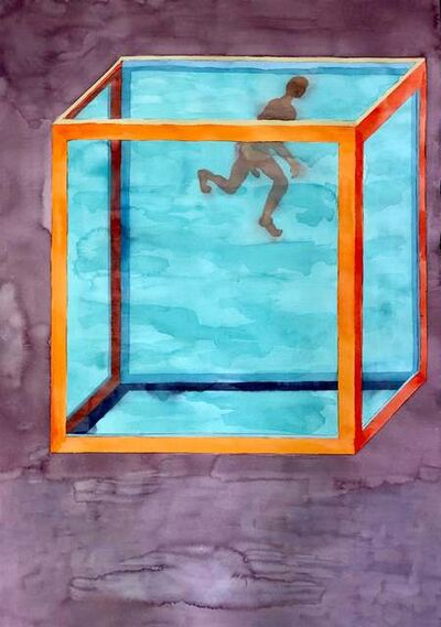 Renelio Marin, 'Untitled (Man in Water Tank)', 2004