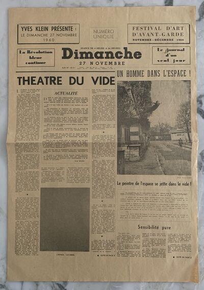 Yves Klein, 'Dimanche', 1960