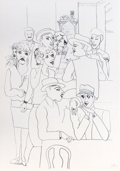 Edward Burra, 'Figures in a Bar', 1931
