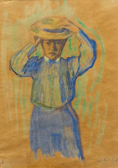 Franz Nölken, 'Mädchen mit Hut (Girl with Hat)', 1905