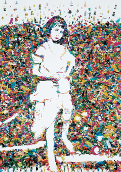Vik Muniz, 'Portrait of Alice Liddell, after Lewis Carroll from the Rebus Series', 2004