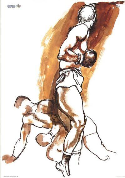 Renato Guttuso, 'Two Boxers', 1983