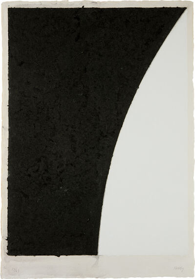 Ellsworth Kelly, 'Colored Paper Image VI (White Curve with Black II), from Colored Paper Images', 1976
